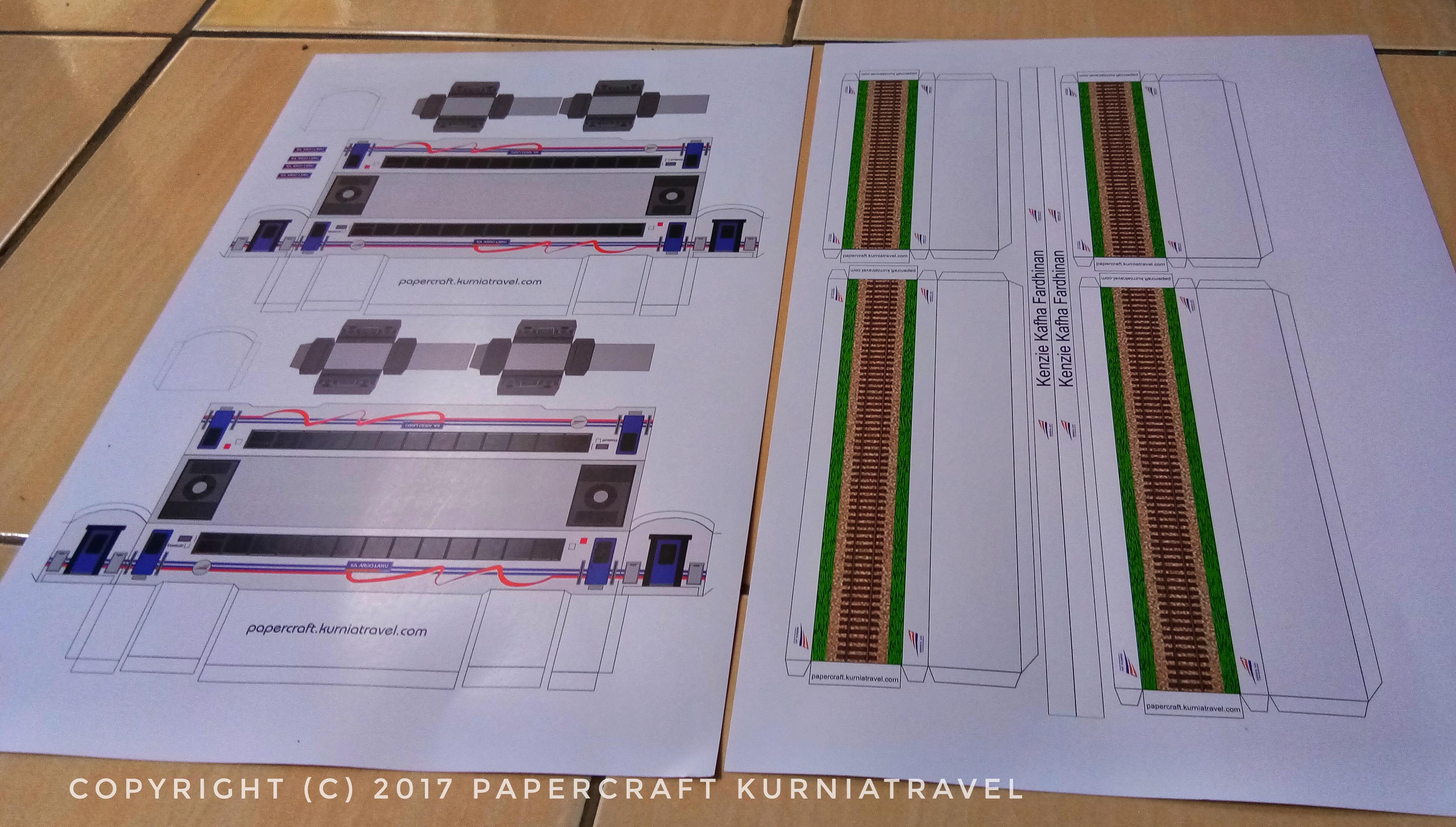 Pola Papercraft Kereta Argo Lawu-Papercraft Kurniatravel